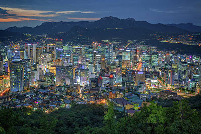 Photograph - The Seoul Skyline by Rick Berk