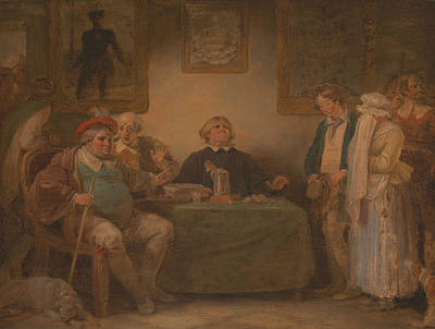 Painting - The Seven Ages Of Man - The Justice, As You Like It by Robert Smirke