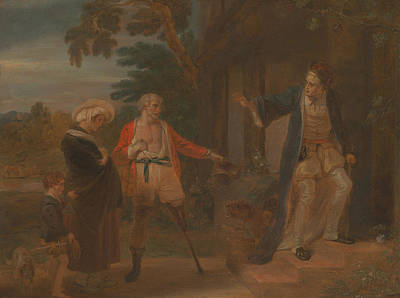 Painting - The Seven Ages Of Man - The Pantaloon, As You Like It by Robert Smirke