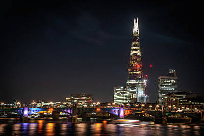 Photograph - The Shard At Night by Framing Places