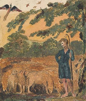 Painting - The Shepherd  From Songs Of Innocence William Blake by Celestial Images