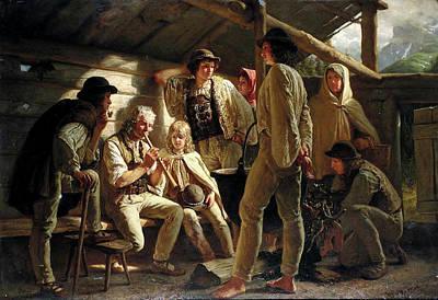 Painting - The Shepherd's Concert by Stanislas Lepine