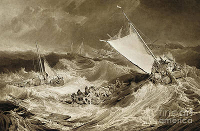 Drawing - The Ship Wreck, 1807 by Charles Turner