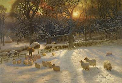 Joseph Farquharson Wall Art - Painting - The Shortening Winter Day Is A Near A Close by Joseph Farquharson