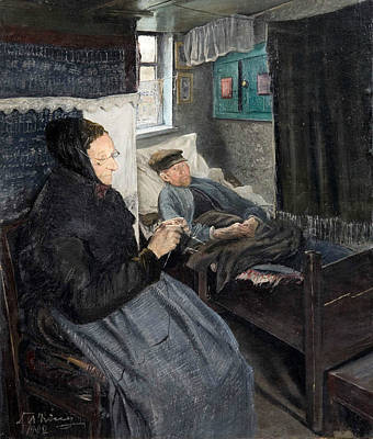 Painting - The Sick Man by Laurits Andersen Ring