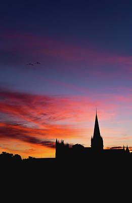Western Art - The silhouette Nidaros Cathedral in Trondheim  by Aziz Nasuti