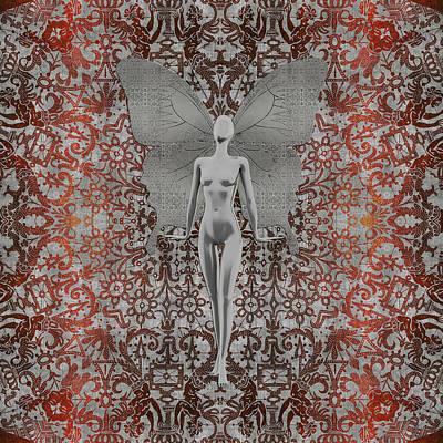 Digital Art - The Silver Fairy by Diego Taborda