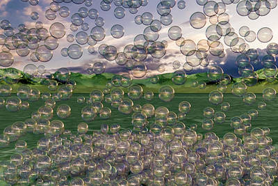 Surrealism Digital Art - The Simplicity of Bubbles  by Betsy Knapp
