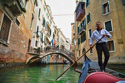 Photograph - The Singing Gondolier by Mary Buck