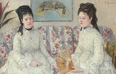 Painting - The Sisters, 1869 by Berthe Morisot