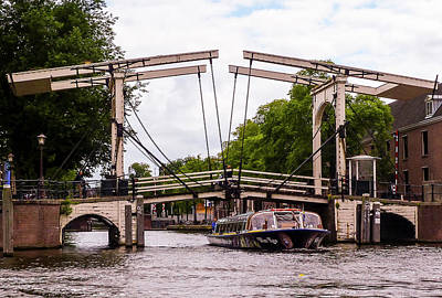 Photograph - The Skinny Bridge Amsterdam by Paul Croll
