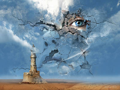 Surrealism Digital Art - The Sky is the Limit or False Illusions and Imagination Duplicity by George Grie