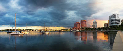 Photograph - The Skyline Of West Palm Beach At Sunset by Debra and Dave Vanderlaan