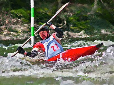 Photograph - The Slalom by Tom Cameron