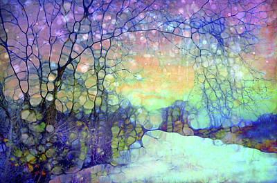 Digital Art - The Snow Falls Like Shreds Of Heaven From A Shattered Sky by Tara Turner