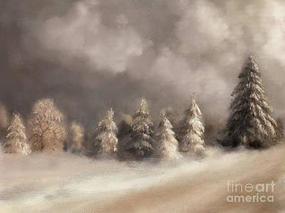 Digital Art - The Snowy Road To The Top by Lois Bryan