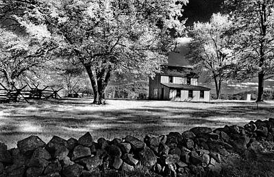 Photograph - The Snyder Farm - Bw Infrared by Paul W Faust - Impressions of Light