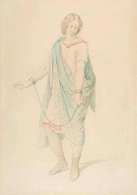 Drawing - The Soprano Karoline Hetzenecker In The Role Of Sesto In La Clemenza Di Tito By W.a. Mozart by Moritz von Schwind