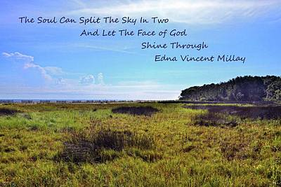 Photograph - The Soul Can Split The Sky In Two by Lisa Wooten