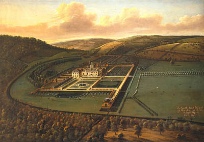 Painting - The Southeast Prospect Of Hampton Court, Herefordshire by Leonard Knyff
