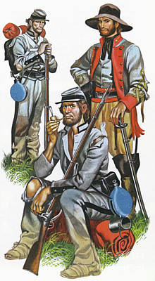 Painting - The Southern Army In The American Civil War by Ron Embleton