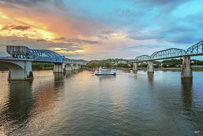 Photograph - The Southern Belle Between The Bridges  by Steven Llorca