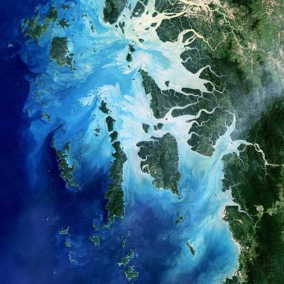 Painting - The Southernmost Reaches Of Burma Myanmar, The Mergui Archipelago Along The Border With Thailand.  by Celestial Images