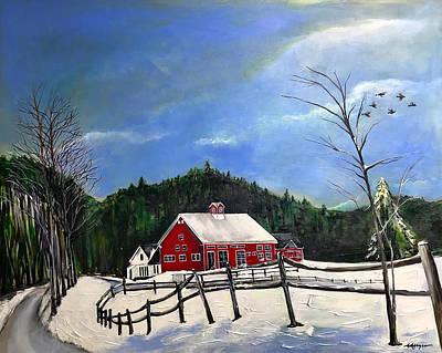 Painting - The Spartan Barn by Nancy Hilliard Joyce
