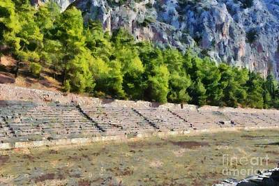 Painting - The Stadium In Delphi I by George Atsametakis