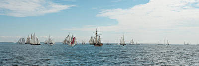 Photograph - The Start Of The Great Schooner Race by Mark Duehmig