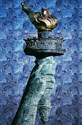 Painting - The Statue Of Liberty - 01 by Andrea Mazzocchetti
