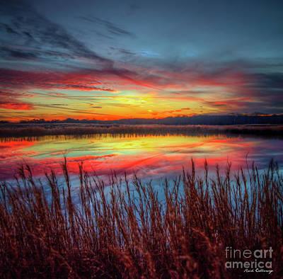 Photograph - The Stillness Reflective Majesty Sunset Landscape Athens Georgia Art by Reid Callaway