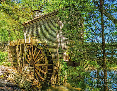 Photograph - The Stone Mountain Grist Mill by Nick Zelinsky