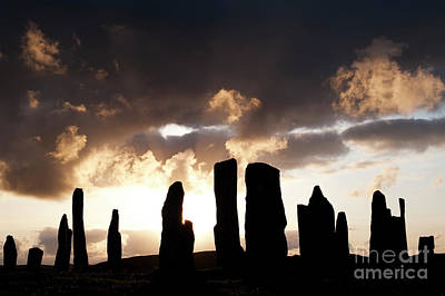 Photograph - The Stones At Callanish Silhouette by Tim Gainey