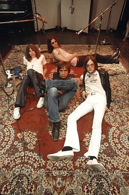 Photograph - The Stooges In The Studio by Ed Caraeff/morgan Media
