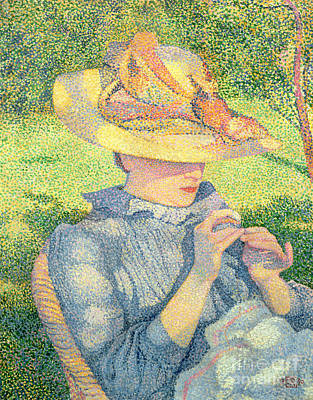 Painting - The Straw Hat, 1890 by Theo van Rysselberghe