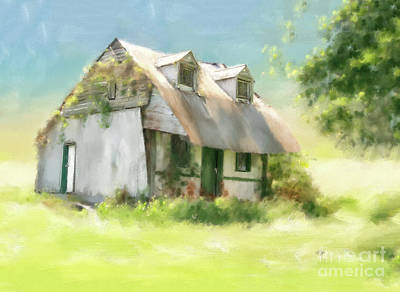 Digital Art - The Summer Cottage by Lois Bryan