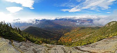 Photograph - The Summit Of Giant Mountain Parnorama Adirondacks Upstate New York by Toby McGuire