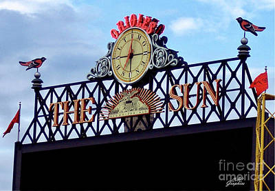 Photograph - The Sun Oriole Park  by CAC Graphics