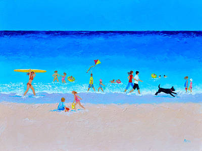 Painting - The Sunny Beach Parade by Jan Matson