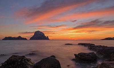 Photograph - The Sunset On The Island Of Es Vedra, Ibiza by Vicen Photography