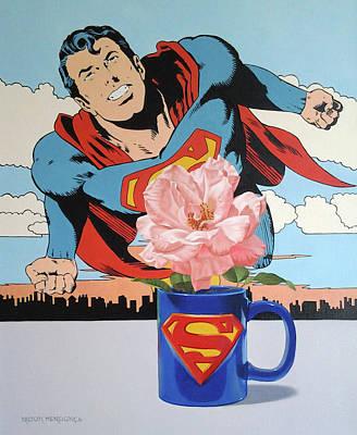 Wall Art - Painting - The Superman Mug by Nilton Mendonca