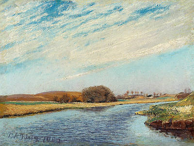 Painting - The Susaa River At Naestved, Denmark by Laurits Andersen Ring