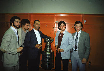 Stanley Cup Playoffs Photograph - The Sutter Family Celebrates Stanley by B Bennett