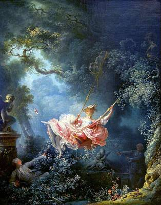 Painting - The Swing By Jean-honore Fragonard, 1767 by Peter Barritt