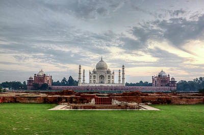Photograph - The Taj Mahal Viewed From Methab Bagh by Emanuele Siracusa