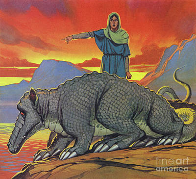 Painting - The Tarasque by Angus McBride