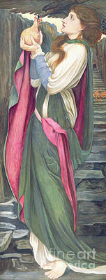 Painting - The Task Of The Black Fountain by John Roddam Spencer Stanhope