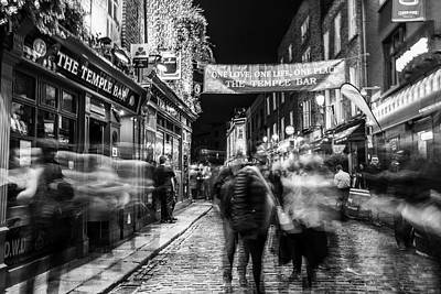 Photograph - The Temple Bar Dublin In Motion  by John McGraw