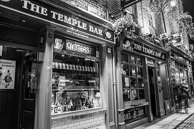 Photograph - The Temple Bar In Dublin Black And White  by John McGraw